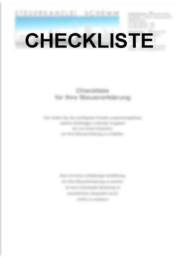 Steuerberater München Checkliste Steuer